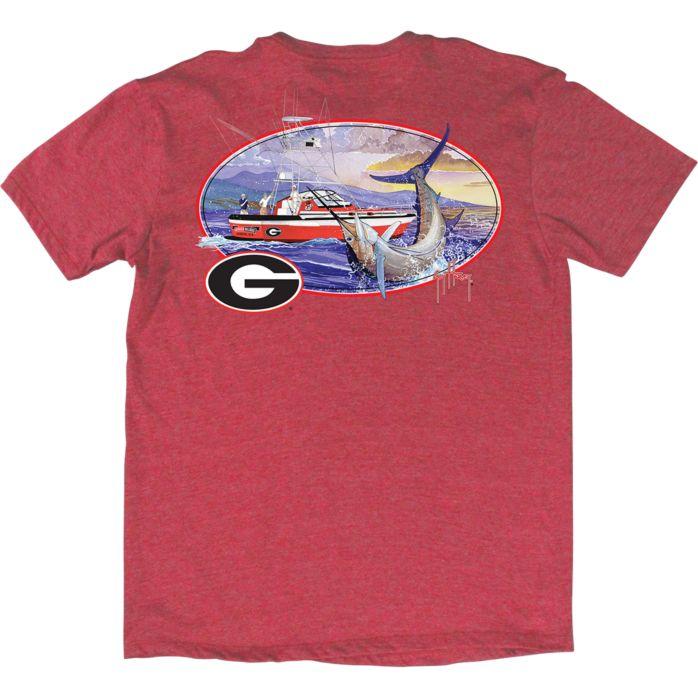 Guy Harvey Collegiate Fishing Club Georgia T-Shirt