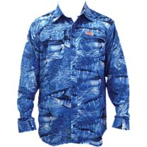 Guy Harvey Legend Camo Long Sleeve Buttondown Shirt