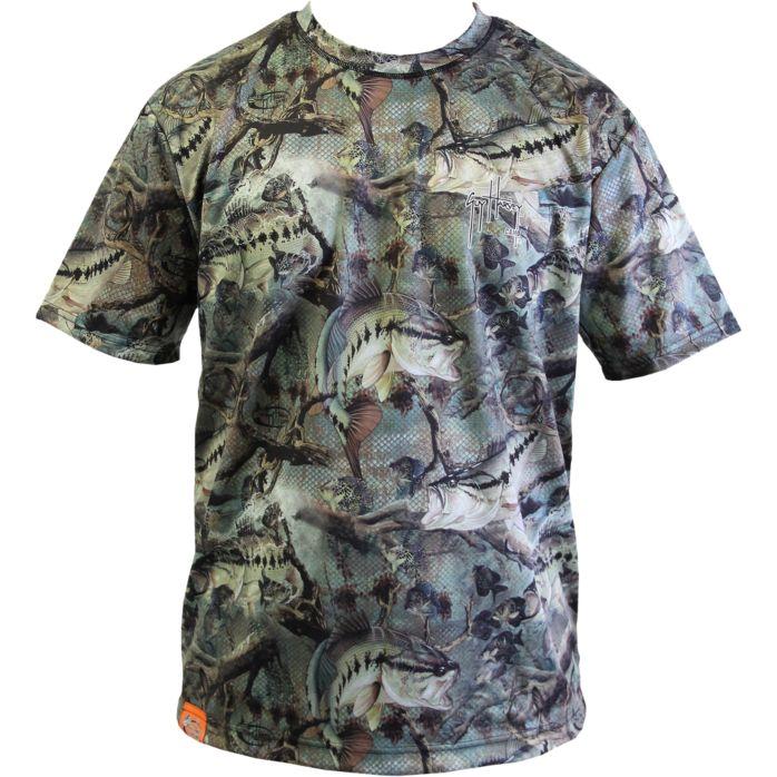 Guy Harvey Strike Boys Camo Performance T-Shirt