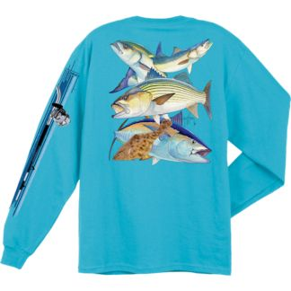 Guy Harvey Northeast Collage Long Sleeve Shirt