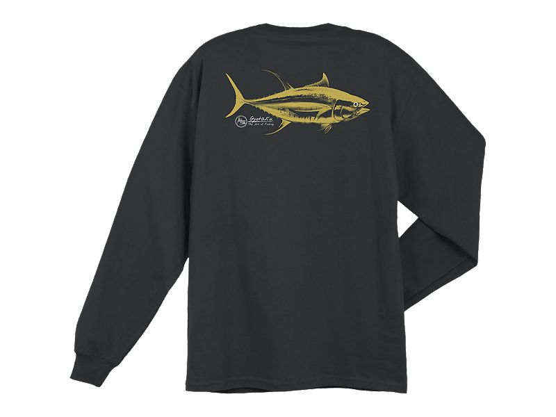 AFTCO Tuna Gyotaku Pocket Long Sleeve Shirt
