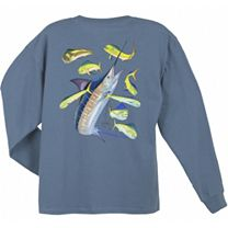 Guy Harvey Marlin Dorado Long Sleeve Shirt
