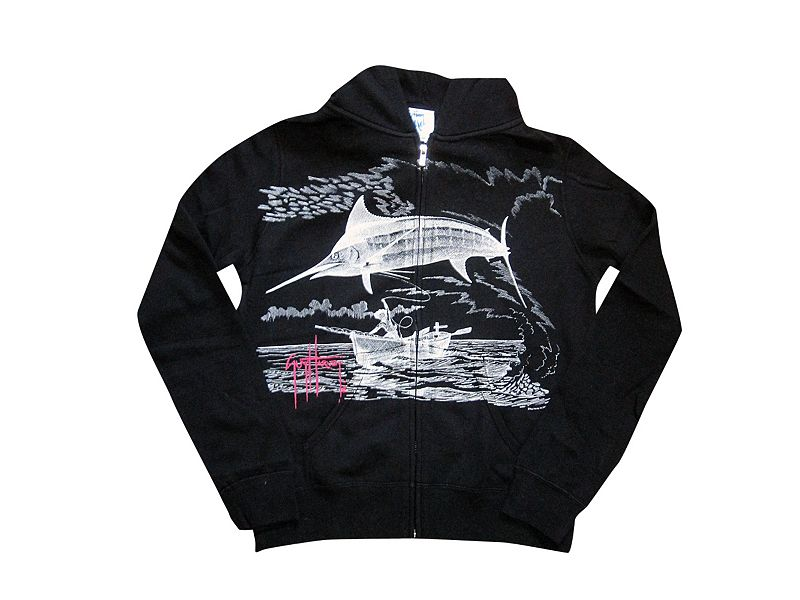 Guy Harvey Marlin Go Over Zip Hoody