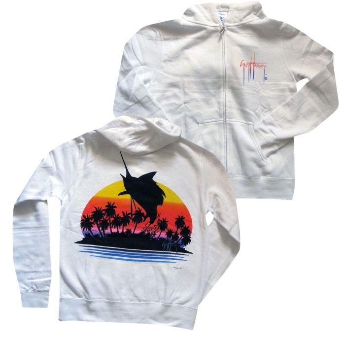 Guy Harvey Sunset Sailfish Zip Hoody