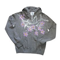 Guy Harvey Sailfish Floral Zip Hoody