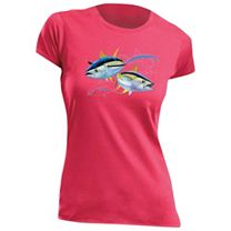 Guy Harvey Tuna Dash Ladies T-Shirt