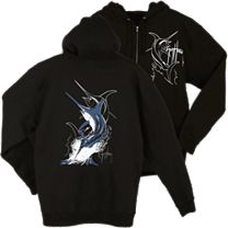 Guy Harvey Swordfish Strike Zip Hoody