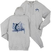 Guy Harvey Marlin Boat Zip Fleece Hoody