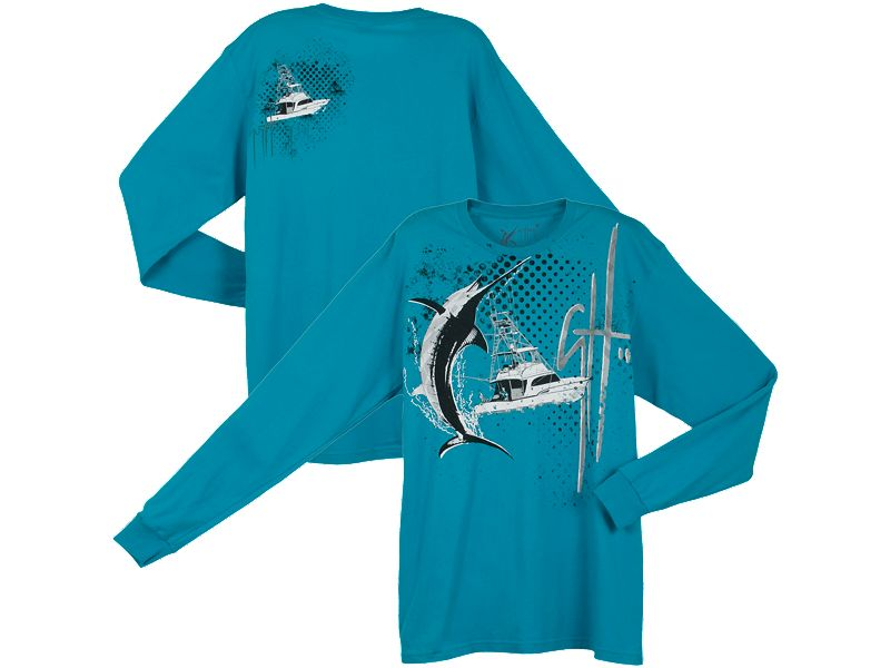 Guy Harvey Offshore Madness Slimfit Long Sleeve Shirt