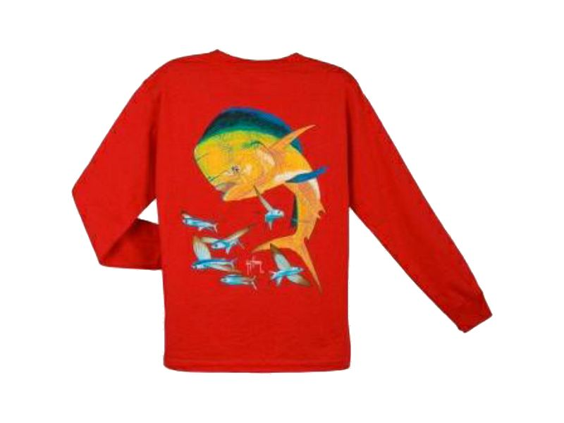 Guy Harvey Bull Dolphin Youth's Long Sleeve Shirt