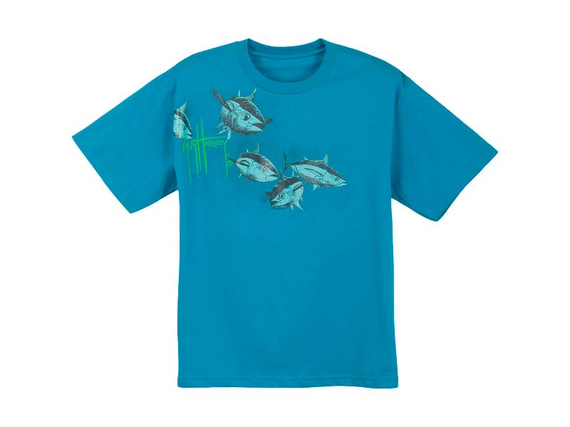 guy harvey tuna flight premium youth t shirt melton