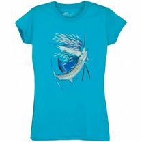 Guy Harvey Paisley Sails Junior T-Shirt