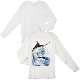 Guy Harvey Champion Marlin Boat Performance Long Sleeve Shir