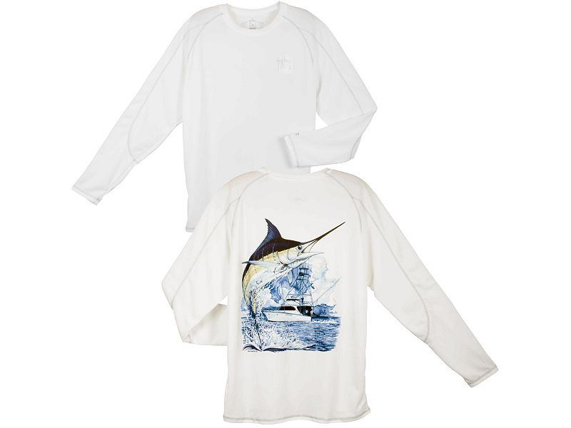 Guy Harvey Champion Marlin Boat Performance Long Sleeve Shirt