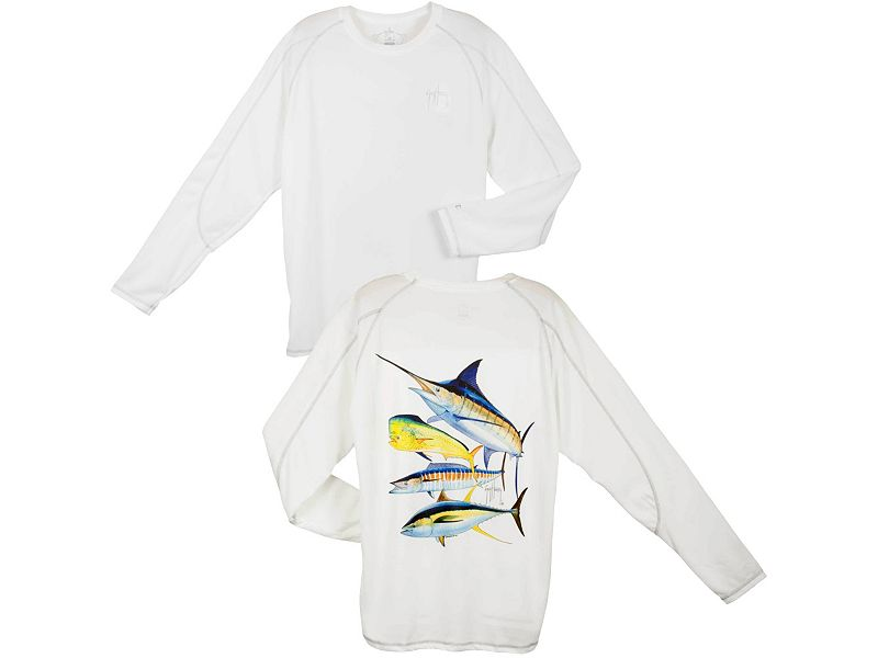 Guy Harvey Champion Foursome Performance Long Sleeve Shirt