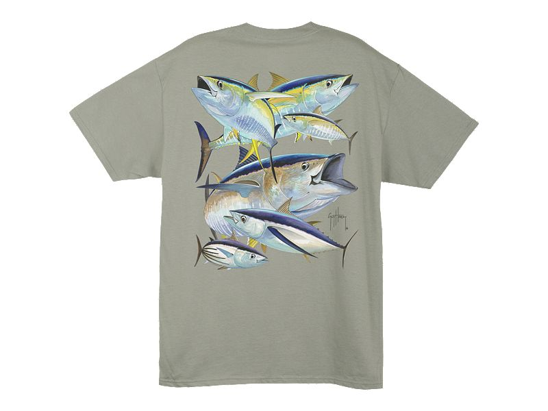 Guy Harvey Tuna Collage T-Shirt
