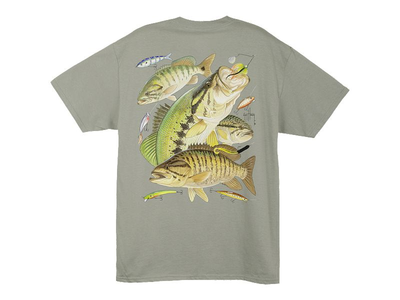 Guy Harvey Bass Collage T-Shirt