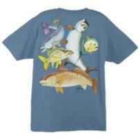 Guy Harvey Inshore Collage T-Shirt