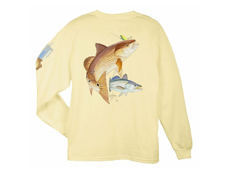 Guy Harvey Redfish Seatrout Long Sleeve Shirt