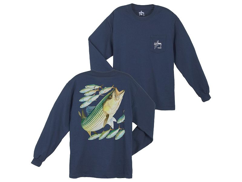 Guy Harvey Striped Bass Long Sleeve Shirt