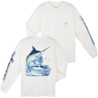 39d05c77 Guy Harvey Marlin Boat Long Sleeve Shirt