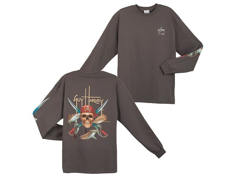 Guy Harvey Pirate Shark Long Sleeve Shirt