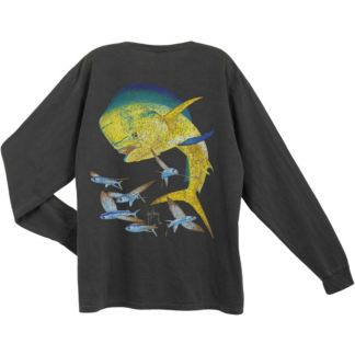 Guy Harvey Bull Dolphin Vintage Long Sleeve Shirt