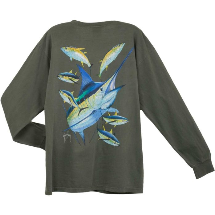 Guy Harvey Marlin Yellowfin Vintage Long Sleeve Shirt
