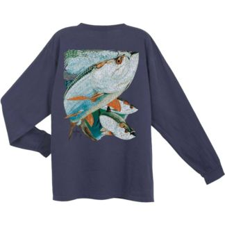 Guy Harvey Tarpon Trio Vintage Long Sleeve Shirt