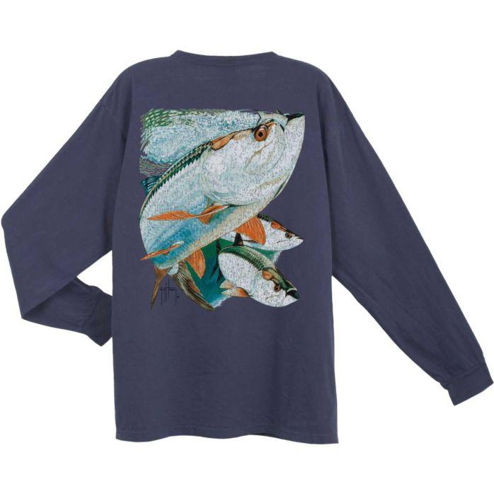 Guy Harvey Tarpon Trio Vintage Long Sleeve Shirt