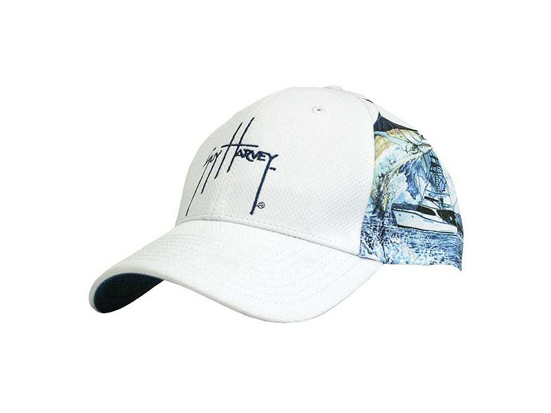 Guy Harvey Marlin Boat Sport Mesh Cap