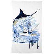 Guy Harvey Marlin Boat Towel