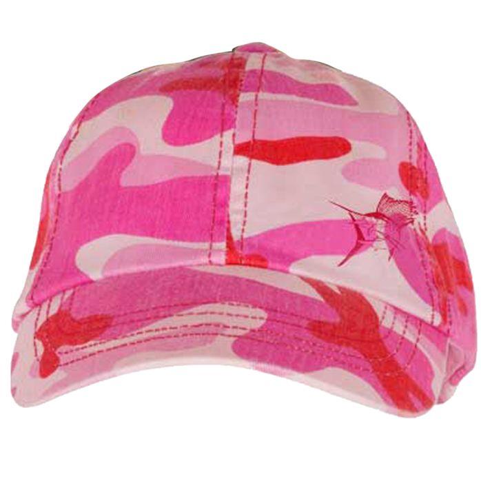 Guy Harvey Sailfish Camo Ladies Hat