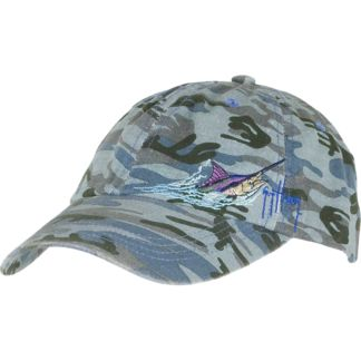 Guy Harvey Marlin Head Camo Ladies Hat