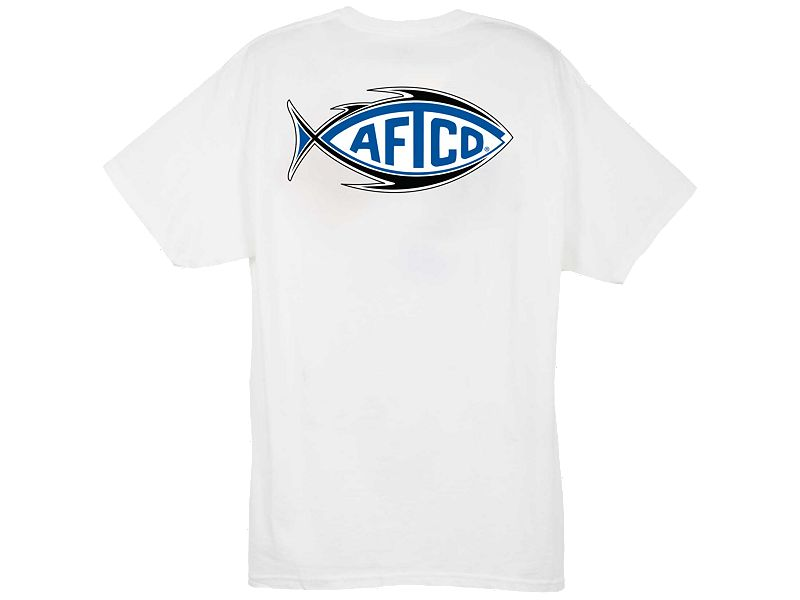 AFTCO Football Logo T-Shirt - White - Medium