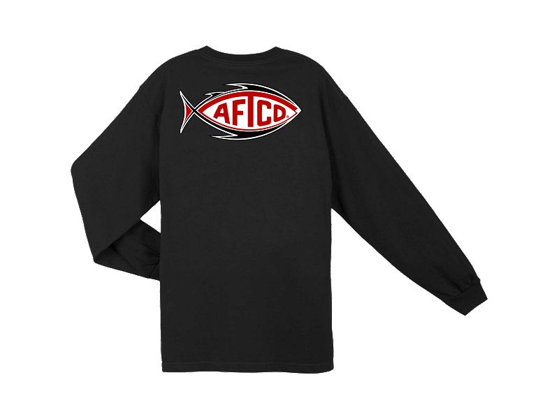 AFTCO Football Logo Long Sleeve Shirt