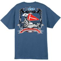 AFTCO Tag Flag T-Shirt - Denim - Medium