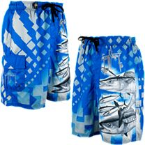 Guy Harvey Wahoo Squares E-Boardshorts