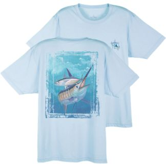 Guy Harvey Dri-Release Blue and Bonito T-Shirt