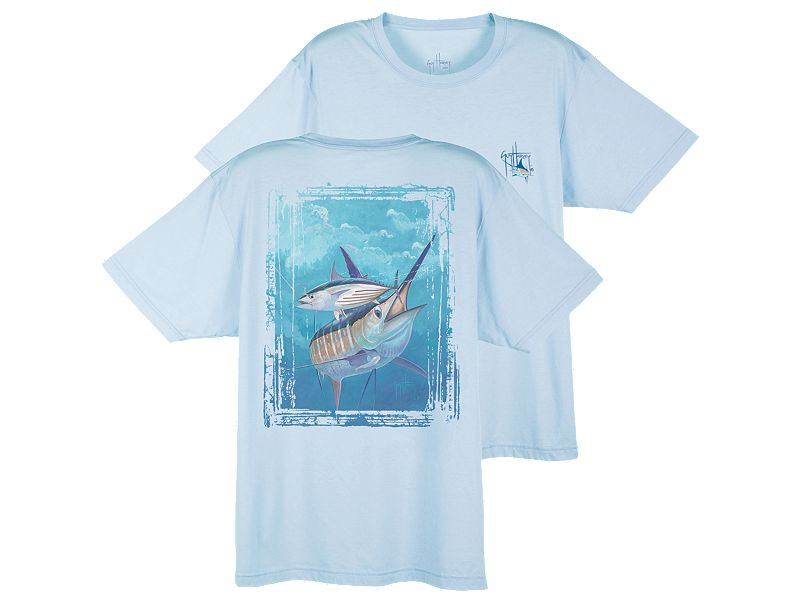 Guy Harvey Dri-Release Blue and Bonito T-Shirt