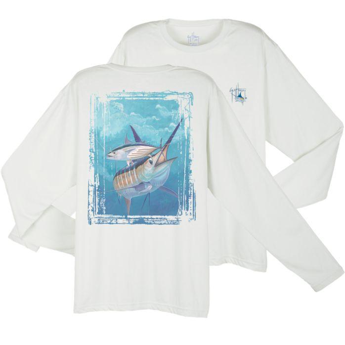 Guy Harvey Dri-Release Blue and Bonito Long Sleeve Shirt