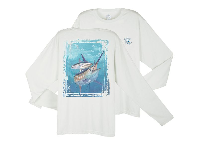 Guy Harvey Dri-Release Blue and Bonito Long Sleeve Shirt