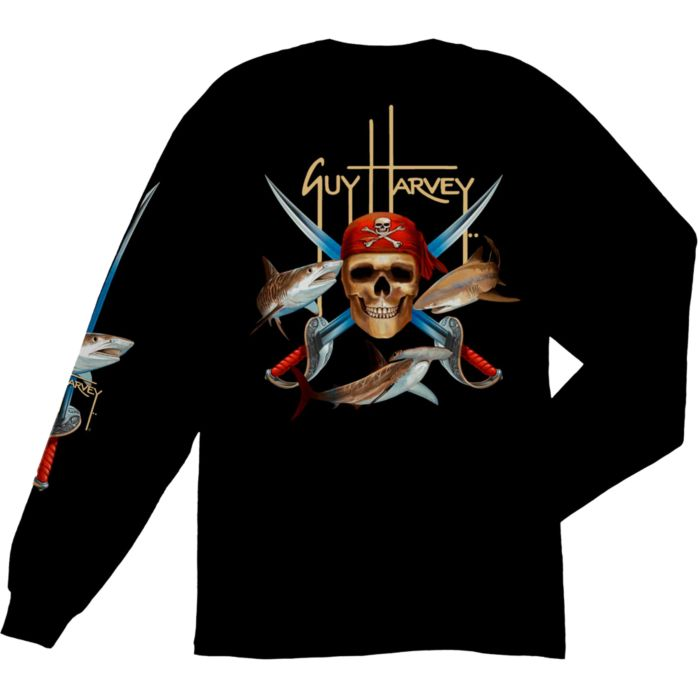 Guy Harvey Pirate Shark Long Sleeve Shirt