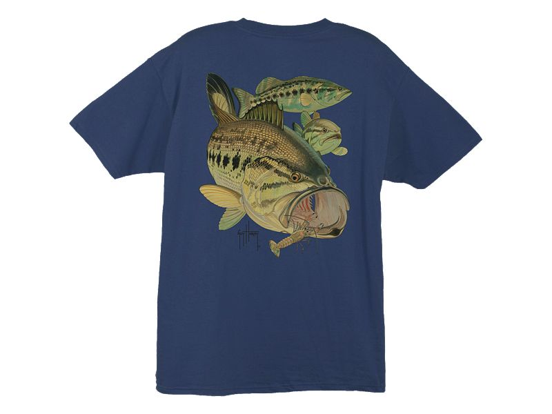 Guy Harvey Largemouth Bass and Crawdad T-Shirt