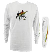 AFTCO Marlin Sketch Long Sleeve Shirt