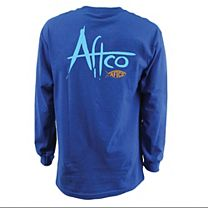 AFTCO Brush Logo Long Sleeve Shirt