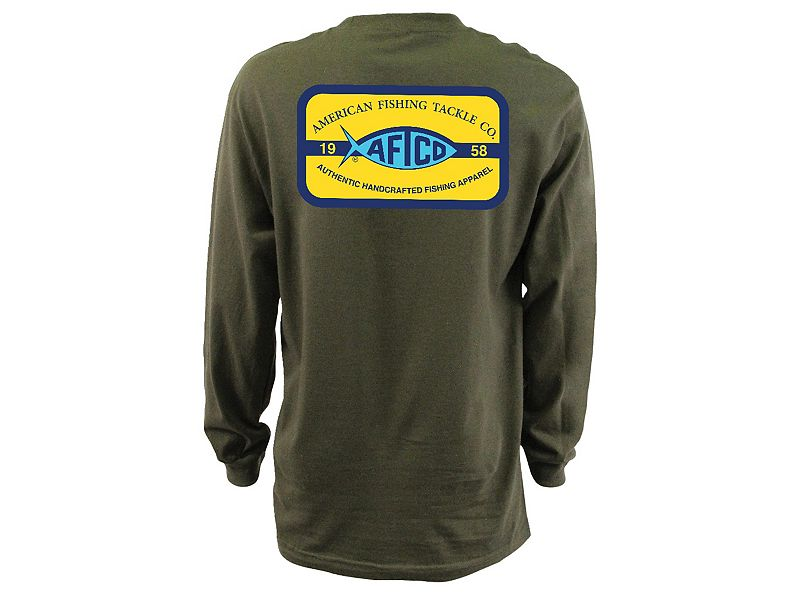 AFTCO Patch Logo Long Sleeve Shirt