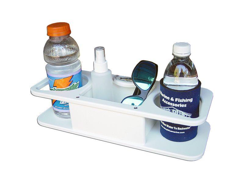 Deep Blue Marine MB-2 2 Drink Holder & Storage w/Suction Cups