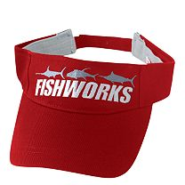 Fishworks 3 Fish Impact Visor - Red