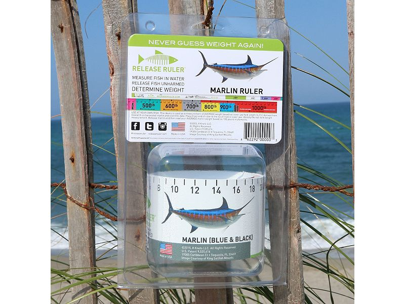 Release Ruler Blue & Black Marlin Ruler